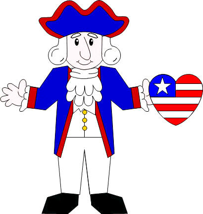 Manualidad de papel George Washington